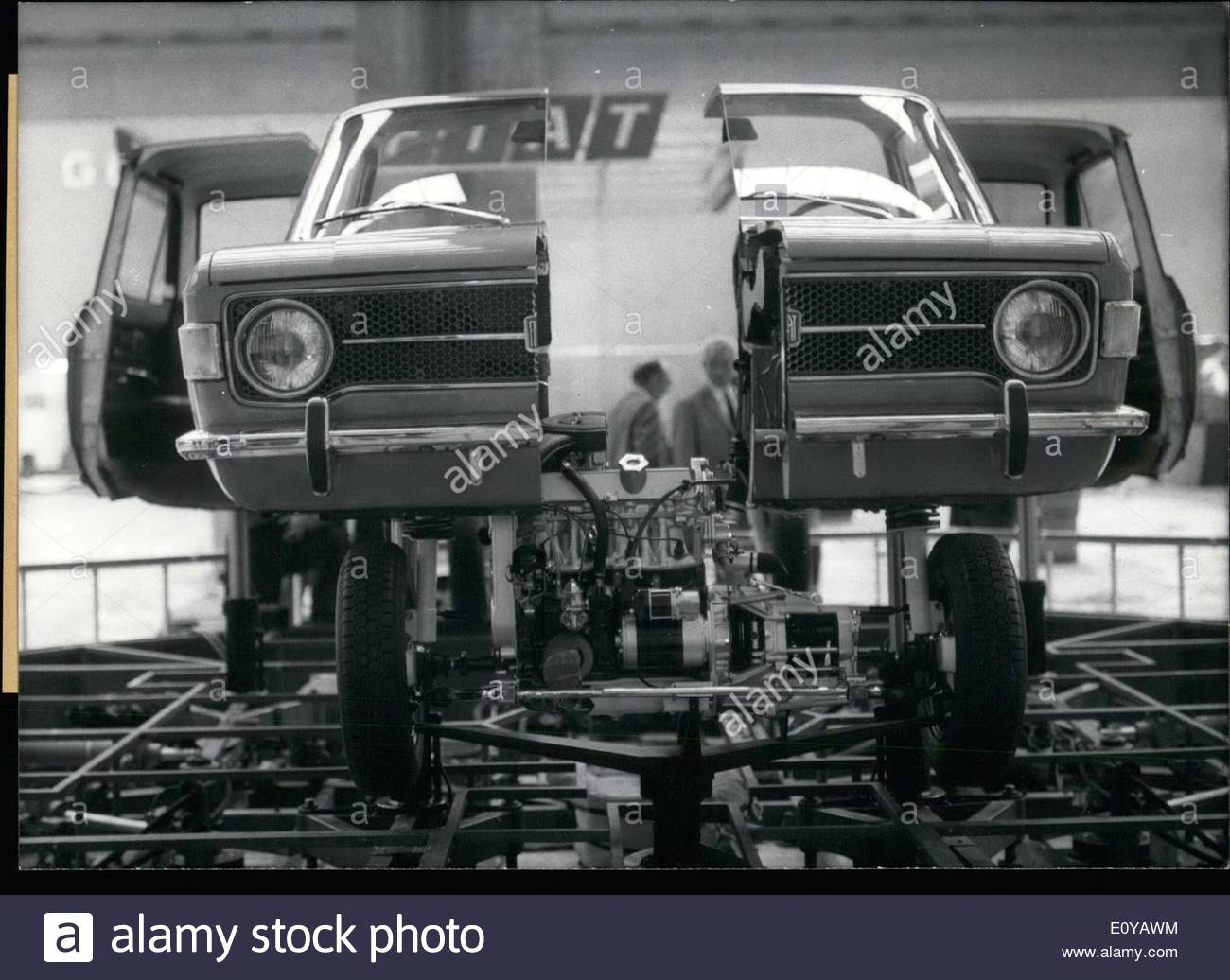 sep 21 1969 this fiat 128 is split down the middle disassembled like E0YAWM